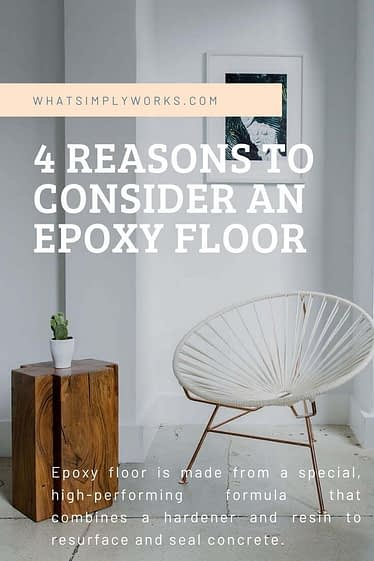Epoxy floor is made from a special, high-performing formula that combines a hardener and resin to resurface and seal concrete.